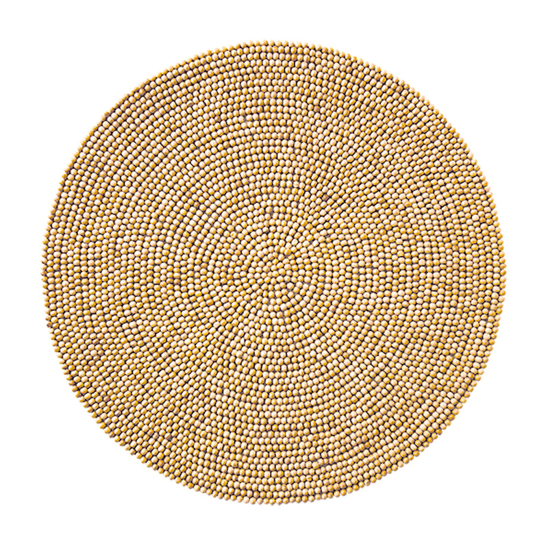 WOOD ROUND PLACEMAT IN NATURAL - Pioneer Linens