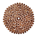 ROUND BAMBOO PLACEMAT IN BROWN