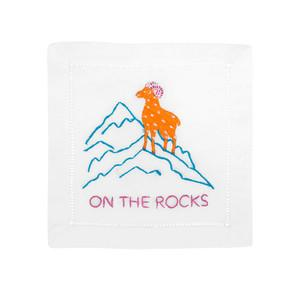 ON THE ROCKS Cocktail Napkins - Pioneer Linens