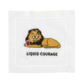 LIQUID COURAGE Cocktail Napkins - Pioneer Linens