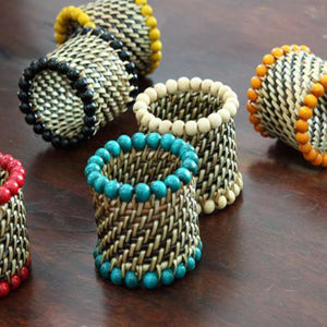 Woven Beaded Napkin Rings