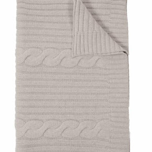 Roma Cashmere Throw In Pearl Gray
