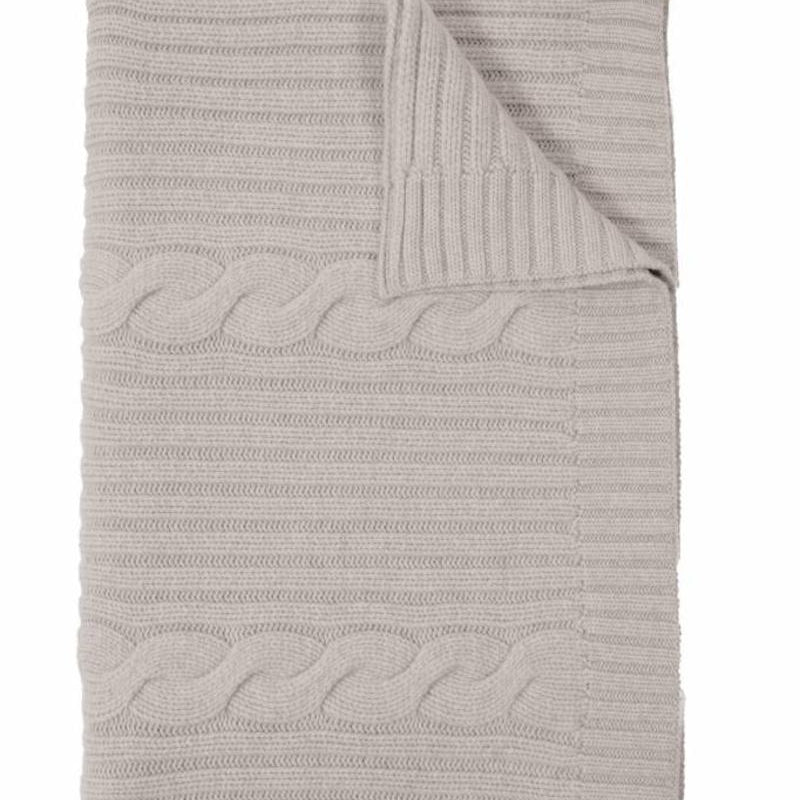 Roma Cashmere Throw In Pearl Gray - Pioneer Linens