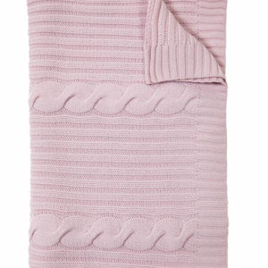 Roma Cashmere Throw In Pink