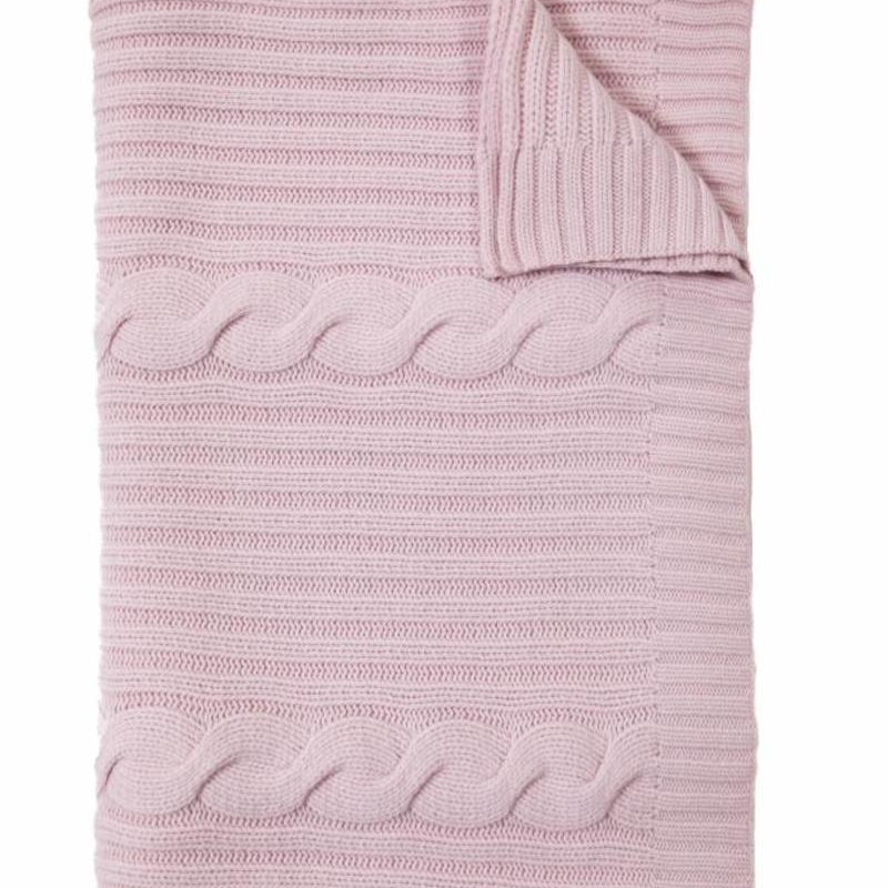 Roma Cashmere Throw In Pink - Pioneer Linens