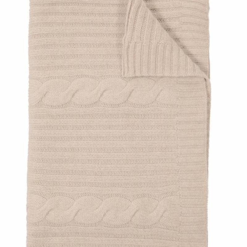 Roma Cashmere Throw In Sand