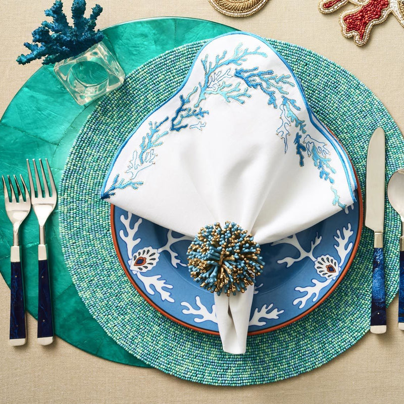 CONFETTI PLACEMATS IN TURQUOISE