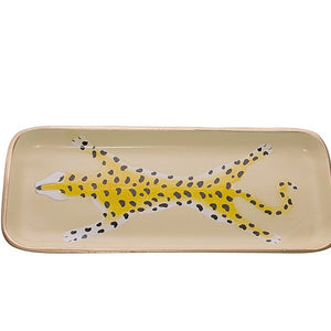 Cream Leopard Tray