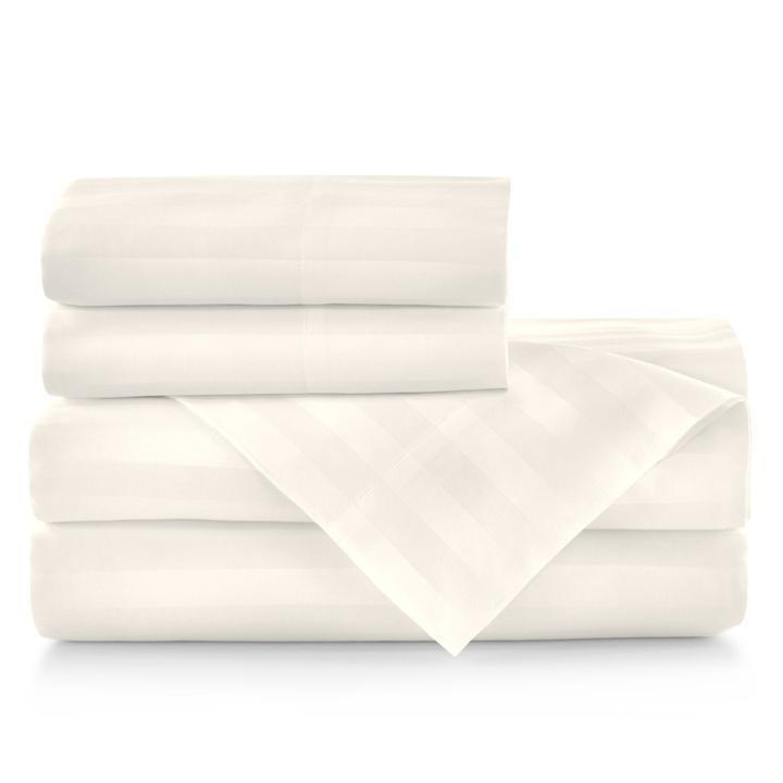 Duet II Striped Sateen Bed Linens - Pioneer Linens