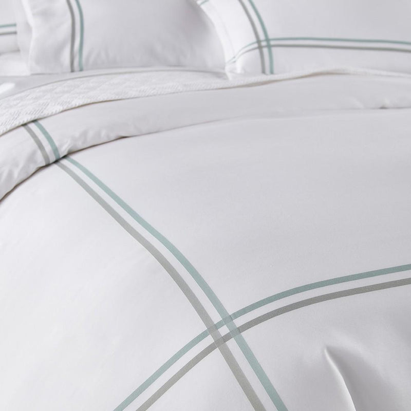 Duo Striped Sateen Bed Linens - Pioneer Linens