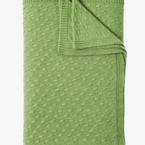 Filetto Cashmere Throw In Green