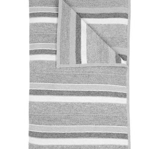 Kent Cashmere Throw In Pearl Gray Ivory