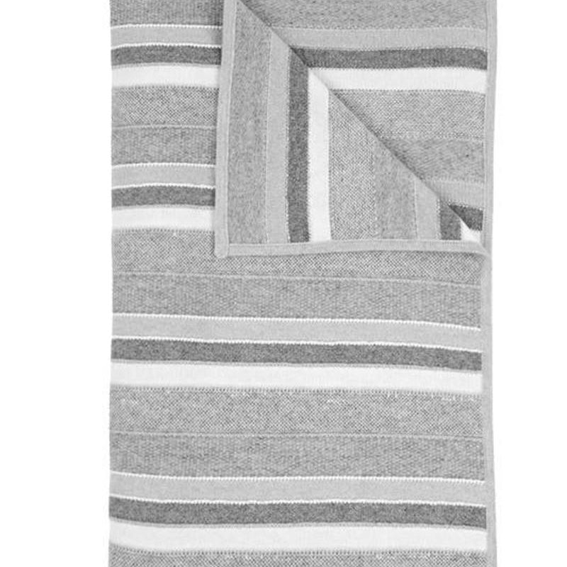 Kent Cashmere Throw In Pearl Gray Ivory - Pioneer Linens
