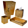 Essentials Monogram Gold Vanity Set