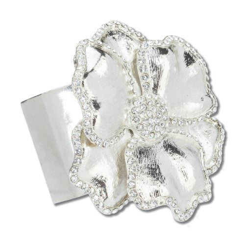 Silver Flower Napkin Ring - Pioneer Linens