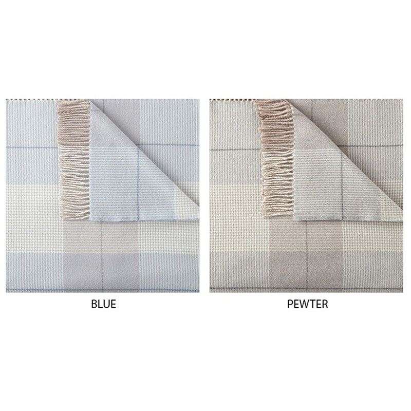 York Plaid Fringe Throws - Pioneer Linens