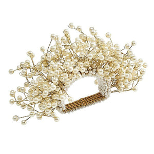 Spray Napkin Rings in Pearl