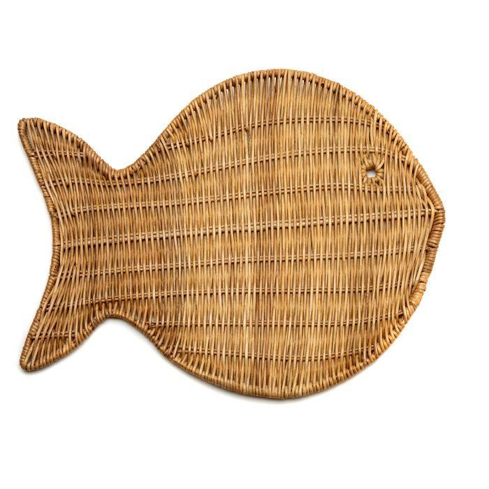 Wicker Fish Placemats - Pioneer Linens