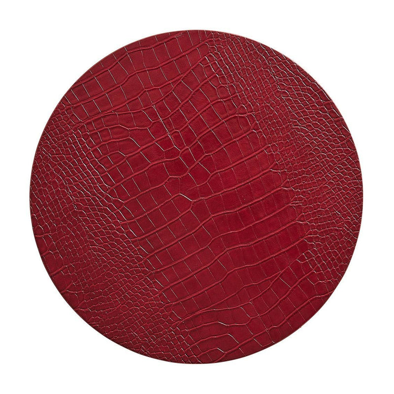 Croco Placemats in Red - Pioneer Linens
