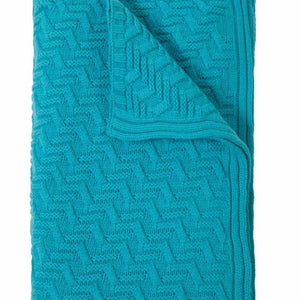 Torino Cashmere Throw In Turquoise