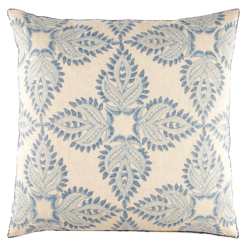 Verdin Lapis Decorative Pillow