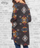 Aztec Tunic Top - Washed Black