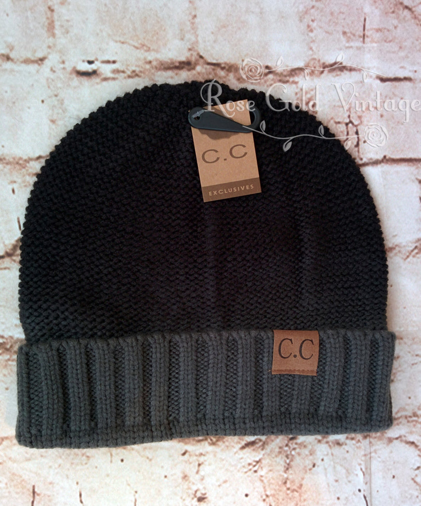 Ombre Foldover CC Beanie Hat