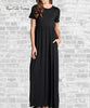 Maxi T-shirt Dress - Black