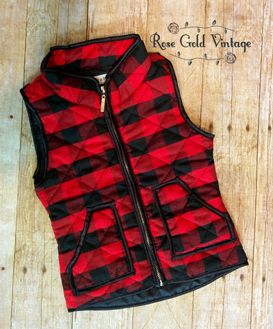 Buffalo Plaid Vest for Girls