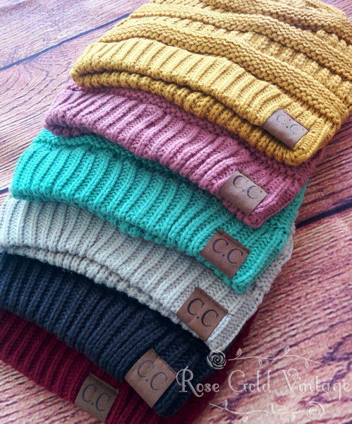 CC Beanie Hats - 33 colors to choose from!