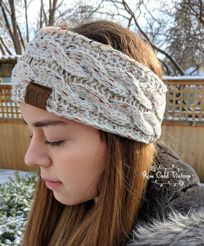 Confetti Knit CC Cable Headbands - 5 colors