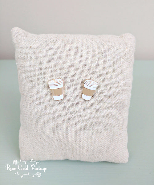 Coffee Stud Earrings