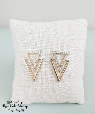 Double Triangle Statement Earring