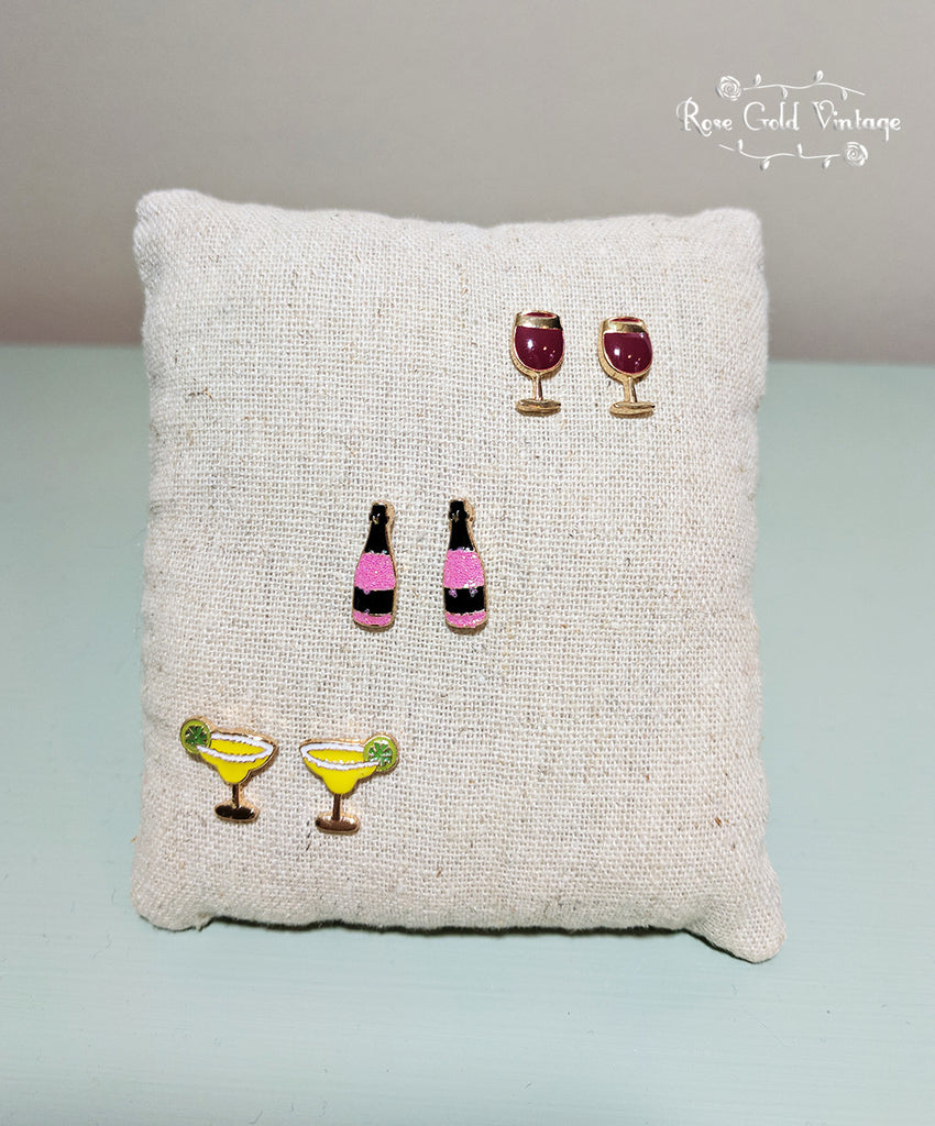Wine, Champagne, or Margarita Earrings