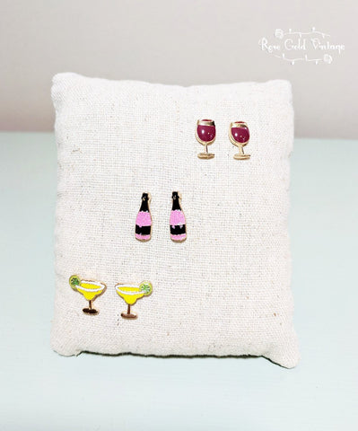 Get Your Drink On Earring Set