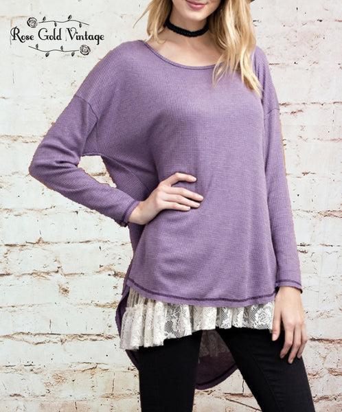 Hi-Lo Thermal Top - Violet