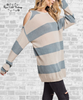 Cold Shoulder Sweater Tunic - Blue Grey