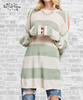 Cold Shoulder Sweater Tunic - Green Tea