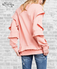 Ruffle Statement Top - Coral