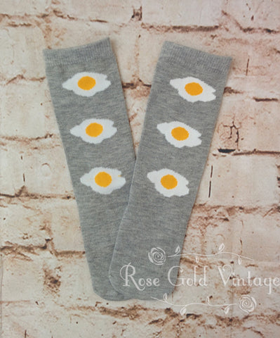 Fried Egg Tall Socks (Toddler)