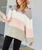 Color Block Balloon Sleeve Sweater