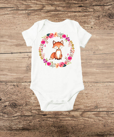 Fox Wreath Onesie (Infant)