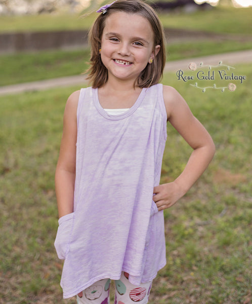 Purple Mineral Wash Tunic (Girls)