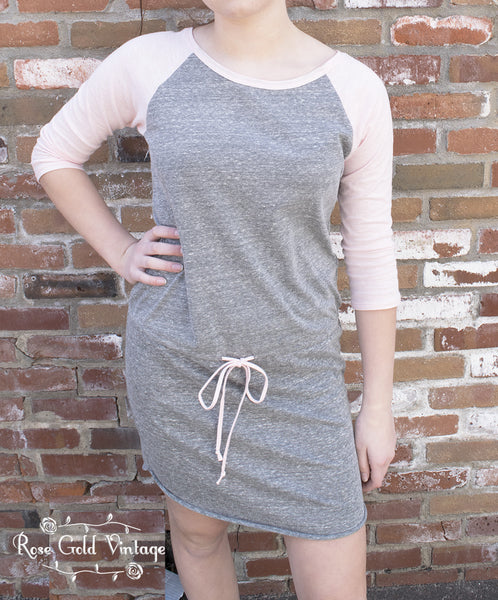 Raglan Drawstring Dress (Ladies)