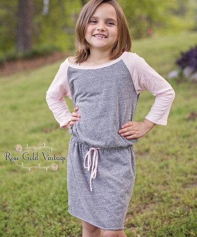 Raglan Drawstring Dress (Girls)