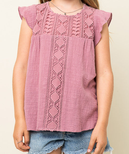 Crochet Knit Top (Girls)