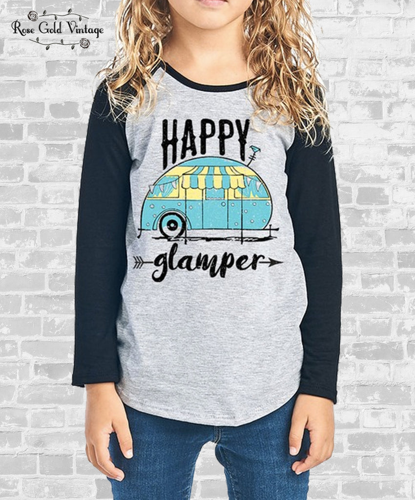 Happy Glamper Raglan (Girls)
