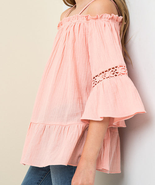 Off Shoulder Tunic Peach (Girls)