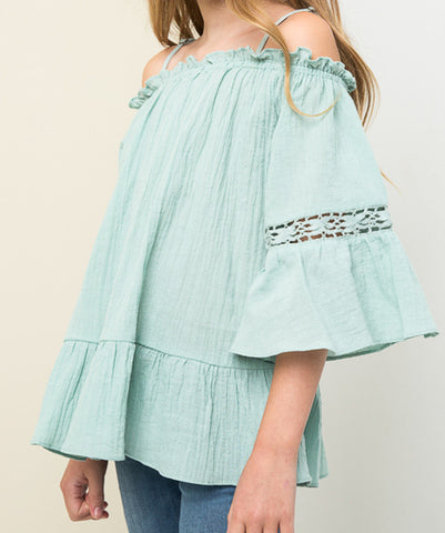 Off Shoulder Tunic Seafoam (Girls)