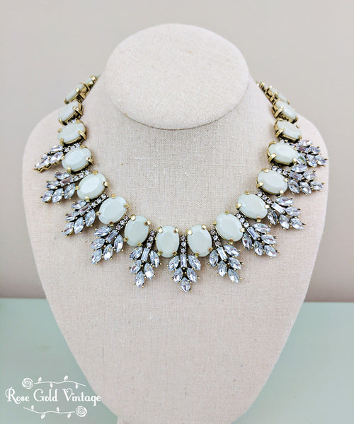Vintage Gray Bling Collar Necklace